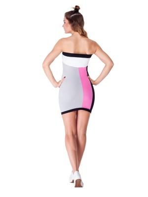 Telescopium Dress (Black&Pink)