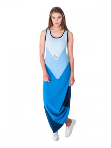 Pavo Maxi Dress (Blue)
